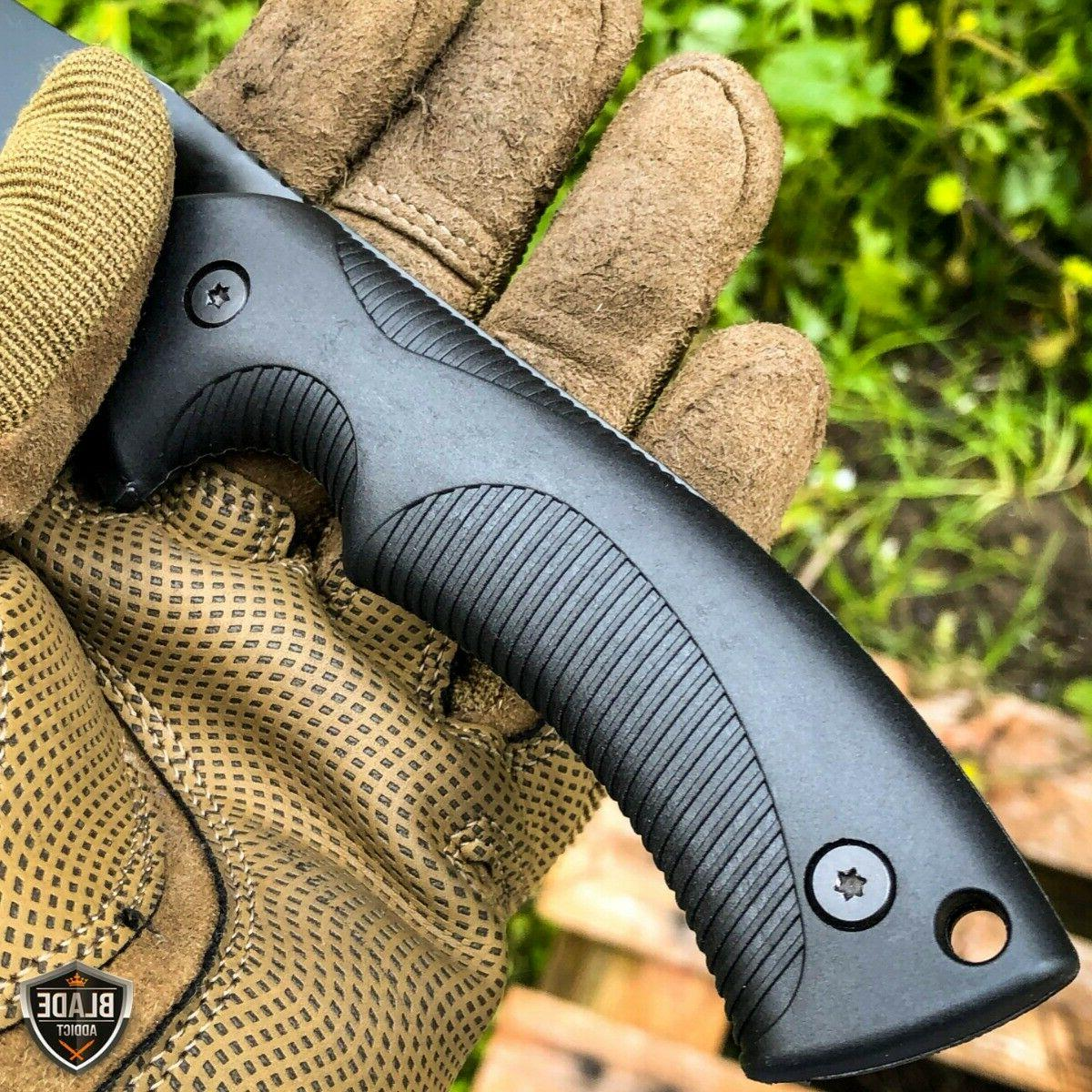 """9"""" Fixed Tactical Hunting Knife with ABS Belt Holster Sheath"""