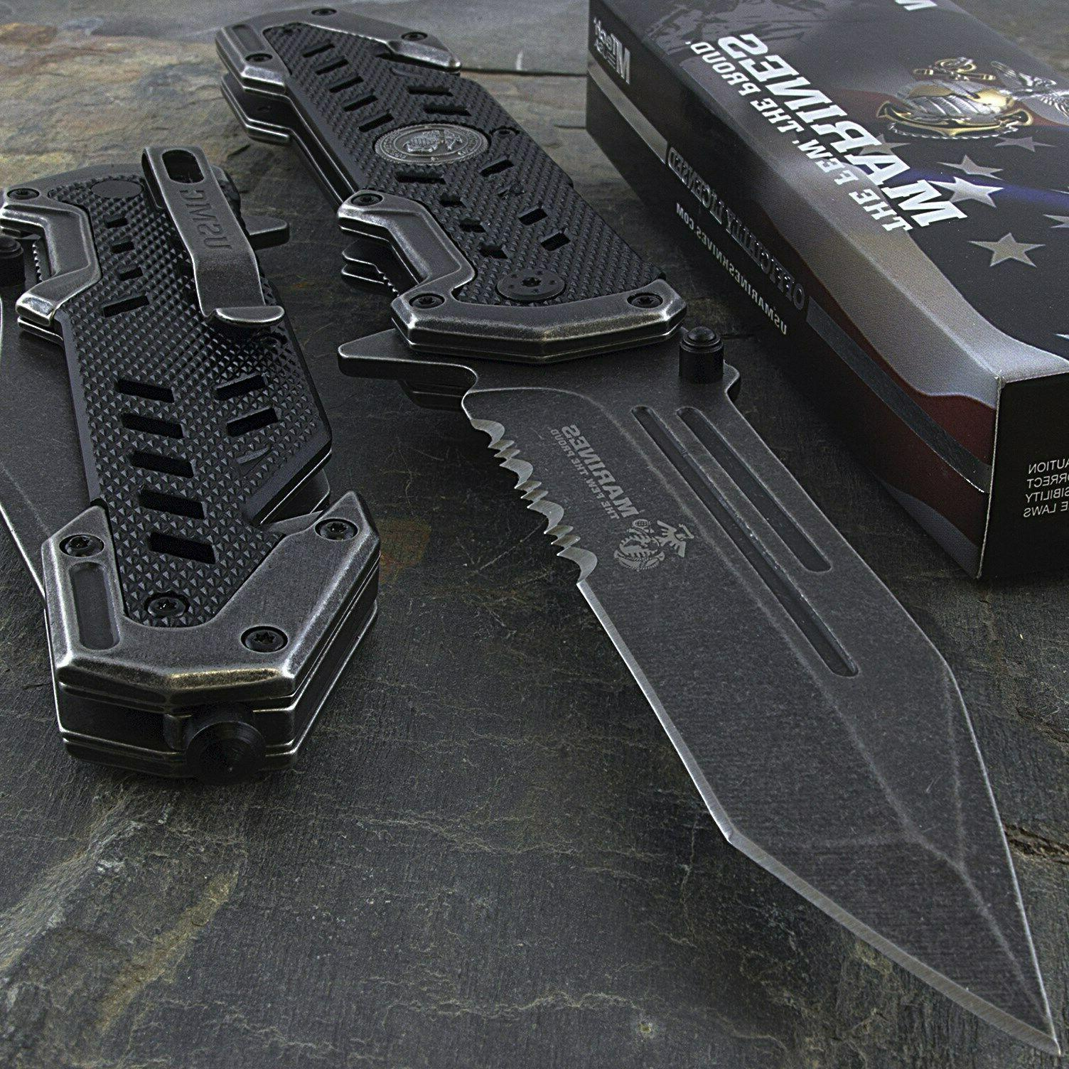 9 usmc marines tanto spring assisted tactical