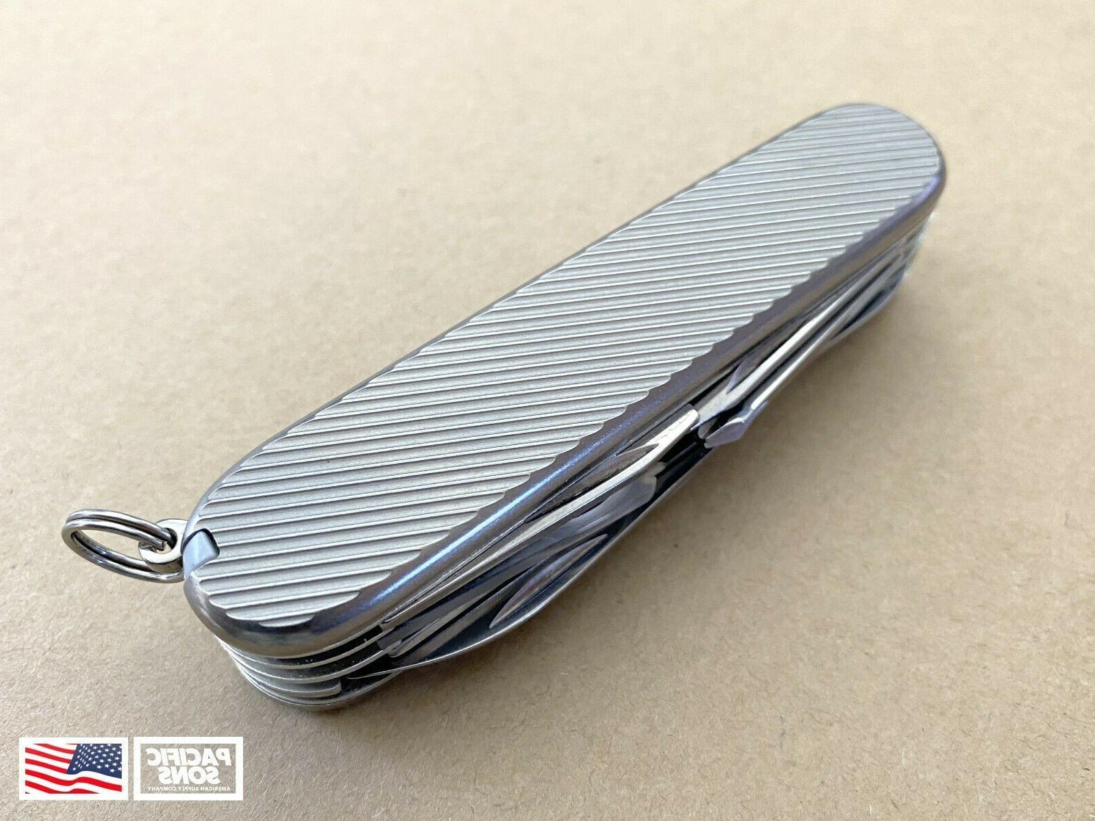 91mm titanium swiss army knife scales line