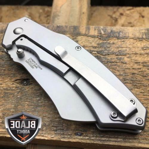 TACTICAL Pocket Knife CLEAVER RAZOR FOLDING Blade