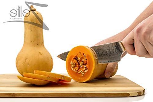ZELITE INFINITY 8 - Series Japanese AUS10 Steel 67 Layer Razor Retention, Resistant Chefs Knives