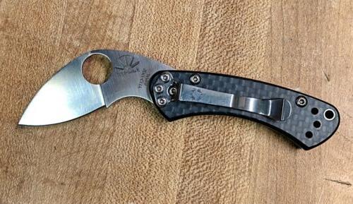 Spyderco Carbon Fiber Knife New In Box,
