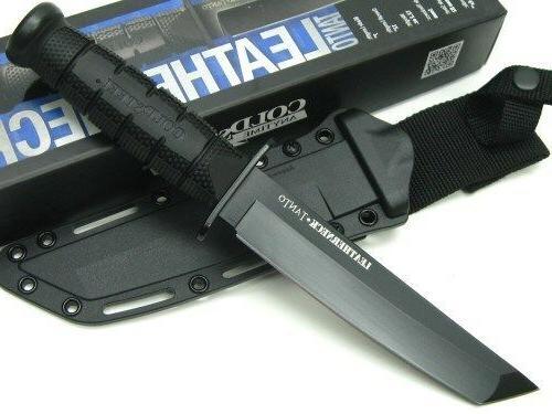 Cold Black Leatherneck Straight Knife