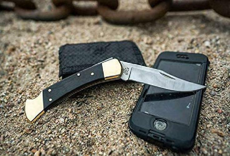 Buck Famous Folding with Genuine Leather Sheath