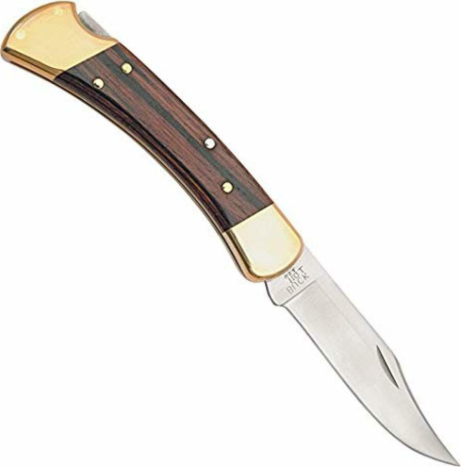 buck knives folding hunter lockback