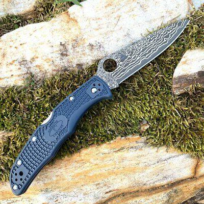 Spyderco KnifeJoy Exclusive KJ Steel Blue FRN Knife