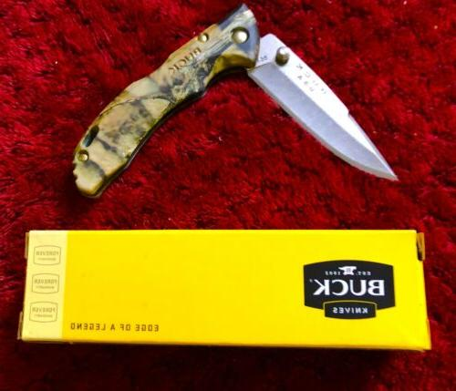Buck knives camo pocket knife bantam,bbw #8796