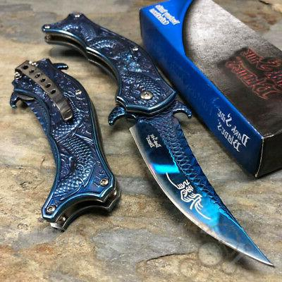 Dark Side Blades Collectors 3D Dragon Handle Spring Assisted