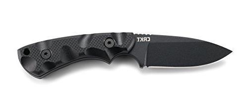 CRKT SIWI Knife: Lightweight Carbon Plain Blade, and Glass Sheath Case 2082
