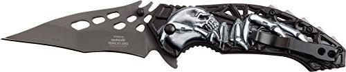 Dark Side Ballistics DS-A057GY Spring Folding Grey Black Grey Handle,
