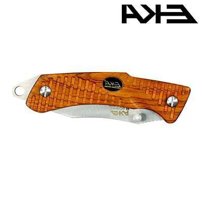 EKA Folding Knife Rosewood Fire Steel / Sharpener -
