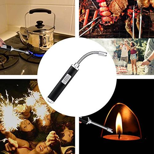 Electric Plasma USB Windproof Flexible Long Grill, Home, Kitchen