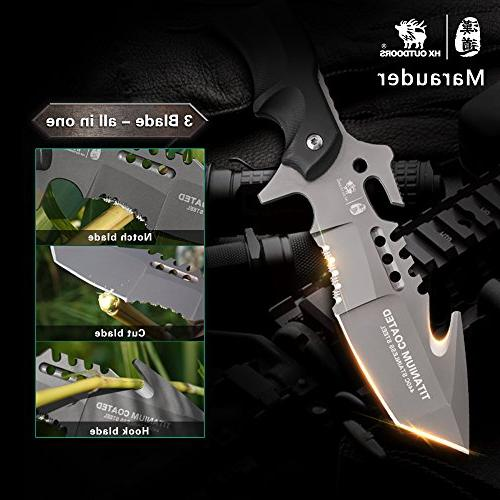 HX tactical knives sheath,Tanto Blade survival forces tactical G10 anti-skidding Handle
