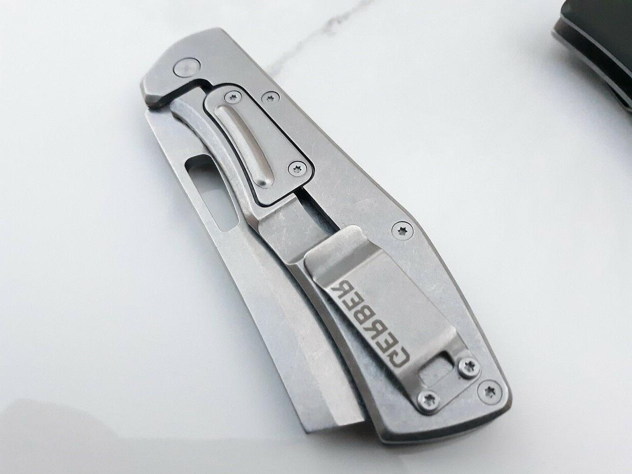 Gerber Flatiron Knife 7Cr17MoV Steel Aluminum Handle