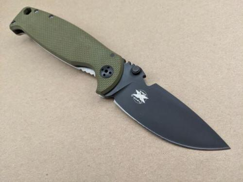 DPx Gear 2.0 Olive Hand Folding Knife Steel DPHSF005
