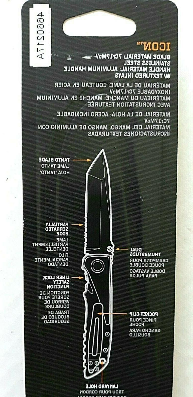 Gerber Large Aluminum Folding 7Cr17MoV Blade Pocket