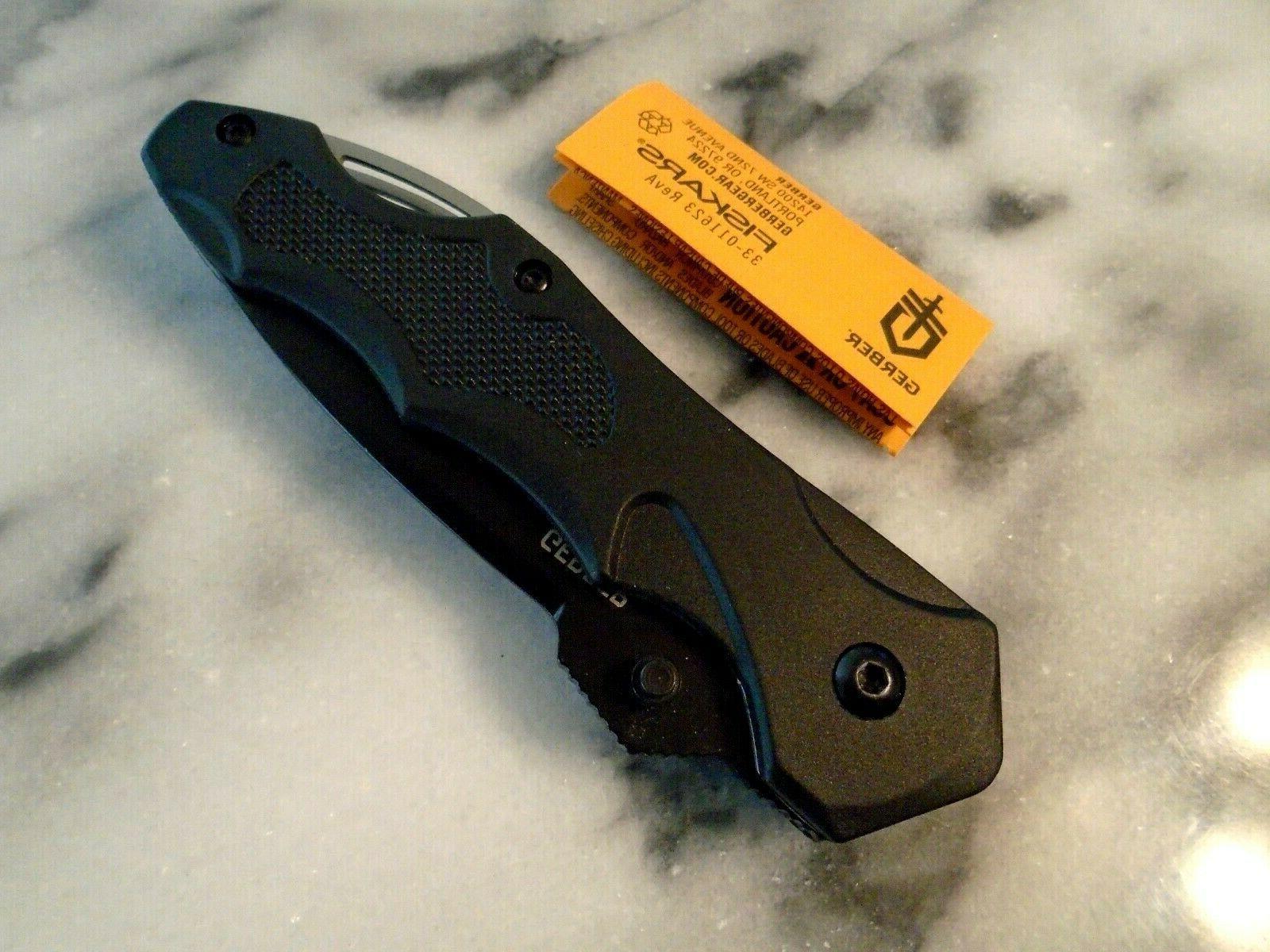 "Gerber Kiowa Folder Tactical Black 7 1/4"" Open"