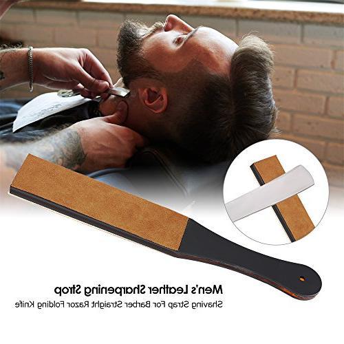 Anself Men's Strop Barber Straight Razor Knife Handmade