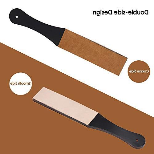 Anself Sharpening Strop Shaving Barber Razor Knife Handmade