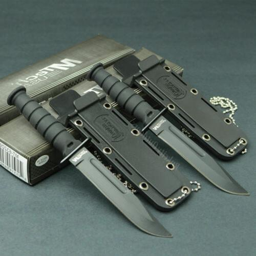 lot of 2 tactical 440 stainless fixed
