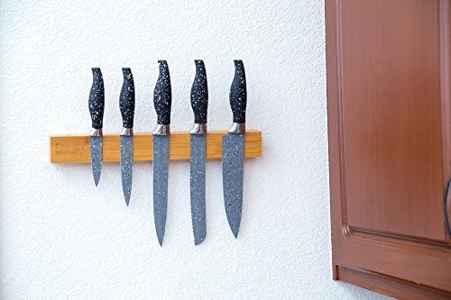 Green inch Magnetic Knife as Storage Bar, Utensil Holder, Tool Supply Organizer & Kitchen