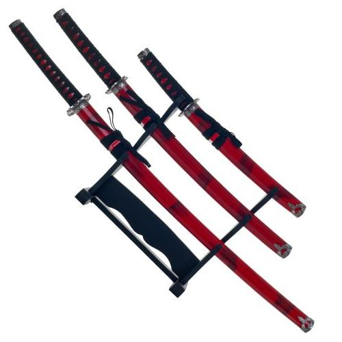 Master Marble Red Katana Sword Set
