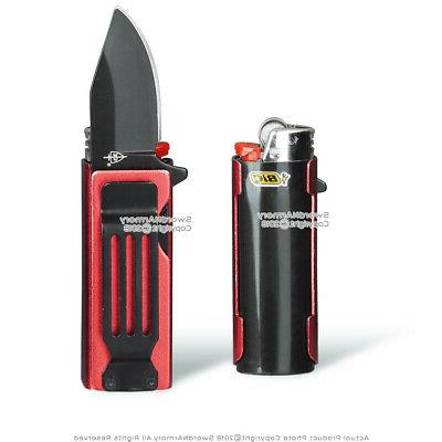 """Mini with Lighter Case and Clip 1.95"""" Blade"""