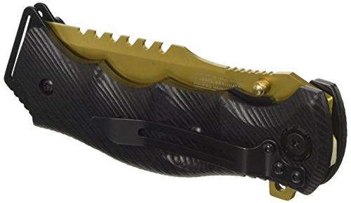 MTech USA Xtreme Spring Assist Gold Handle, 5-Inch Closed