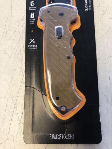 NEW Gerber Pocket Knife, Tanto, Blade Assisted New