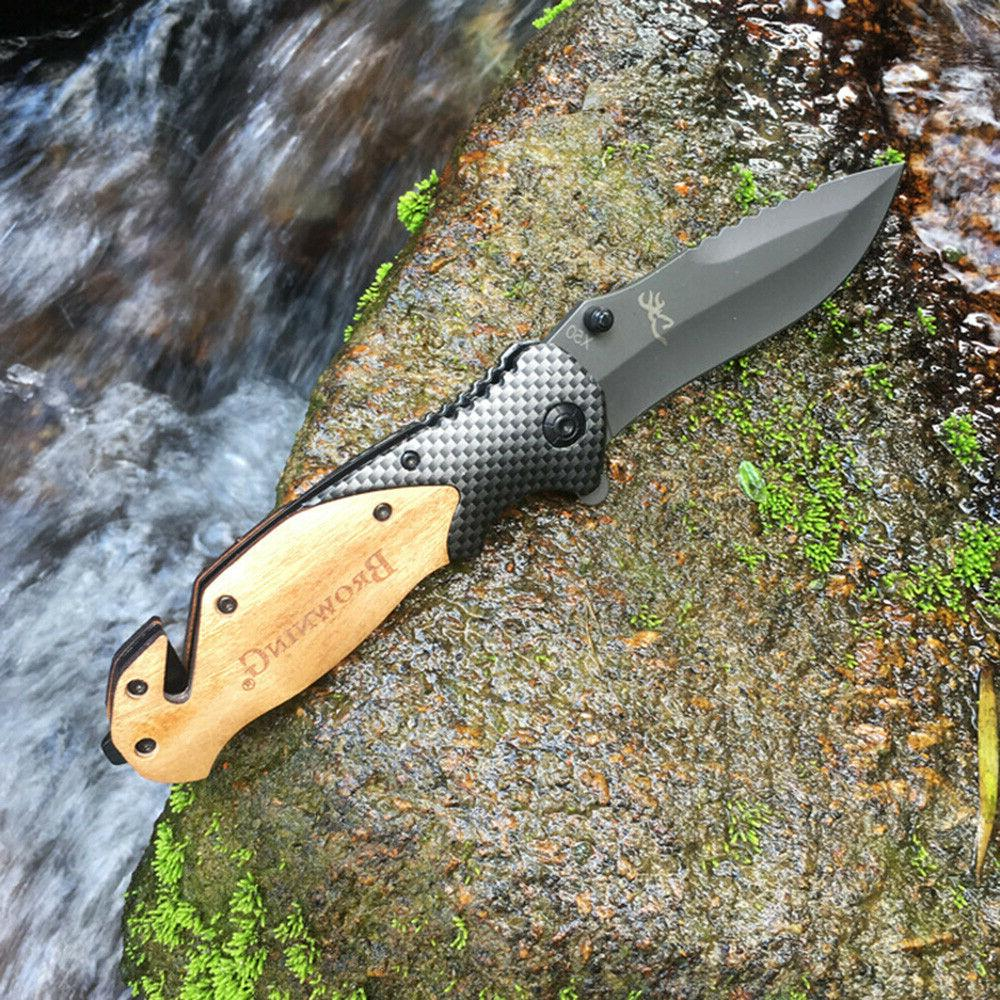 NEW Browning X50 Tactical Folding Pocket Knife Survival Camp