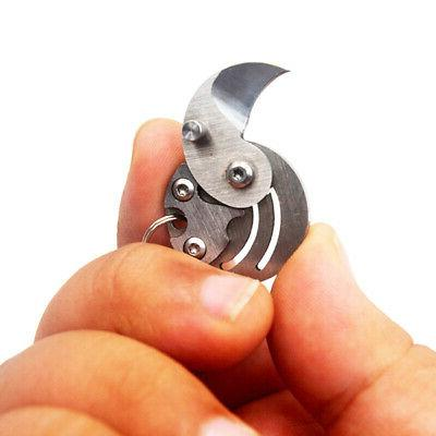 Outdoor Mini Folding EDC Coin Knife Pocket Knives Keychain S