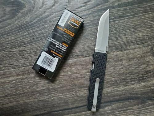 pocket square knife 3 stainless blade black