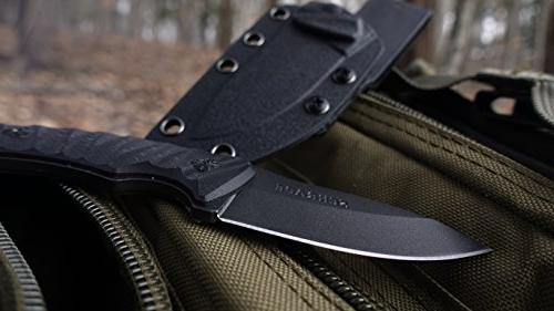 Schrade SCHF57 Full Tang Knife with Point and G-10 Handle Outdoor Camping