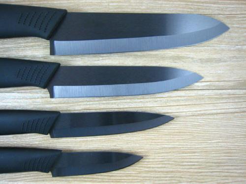 "New Ceramic Knife Set Chef's Kitchen Black Blade 5"" +"