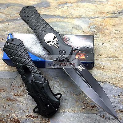 DARK BLADES Punisher Black Pocket Knife
