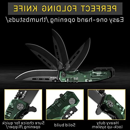 Spring Assisted Knife Pocket Folding Military Style Scouts Knife Knife - Good Camping, and Outdoor
