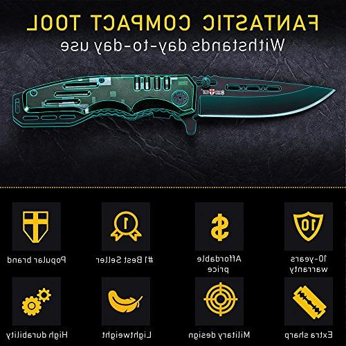 Spring Assisted Pocket Folding - Military Boy Scouts Knife Knife for Camping, and Activities 6681