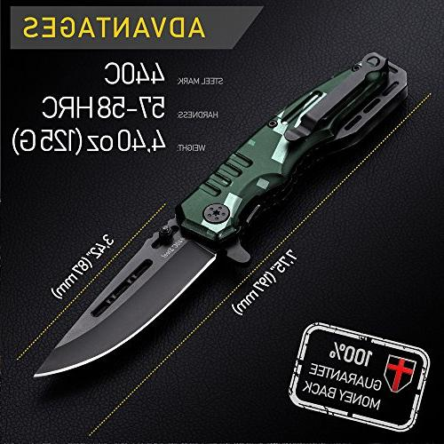 Spring Assisted Knife Pocket Folding Military Style - Boy Scouts Knife Tactical Knife - Camping, Indoor and Outdoor Activities 6681