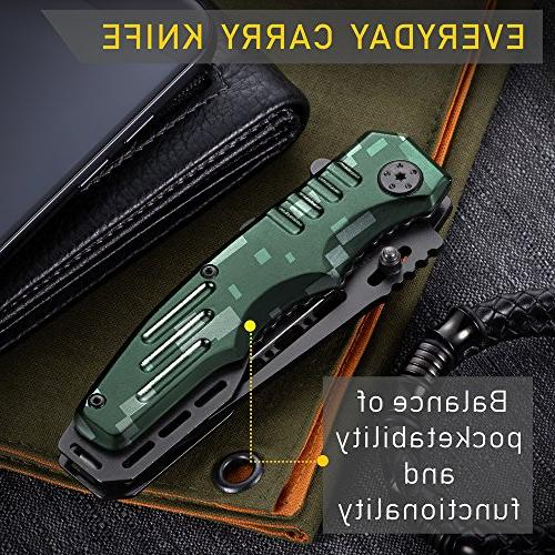 Spring Knife - Pocket Military Scouts Knife Tactical Knife Good for Camping, Indoor Outdoor Activities