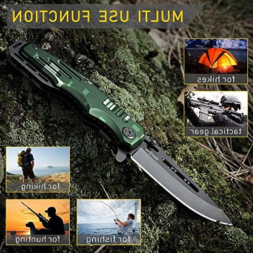Spring Assisted Knife Pocket Folding Military - Scouts Knife Good for Camping, and Activities 6681