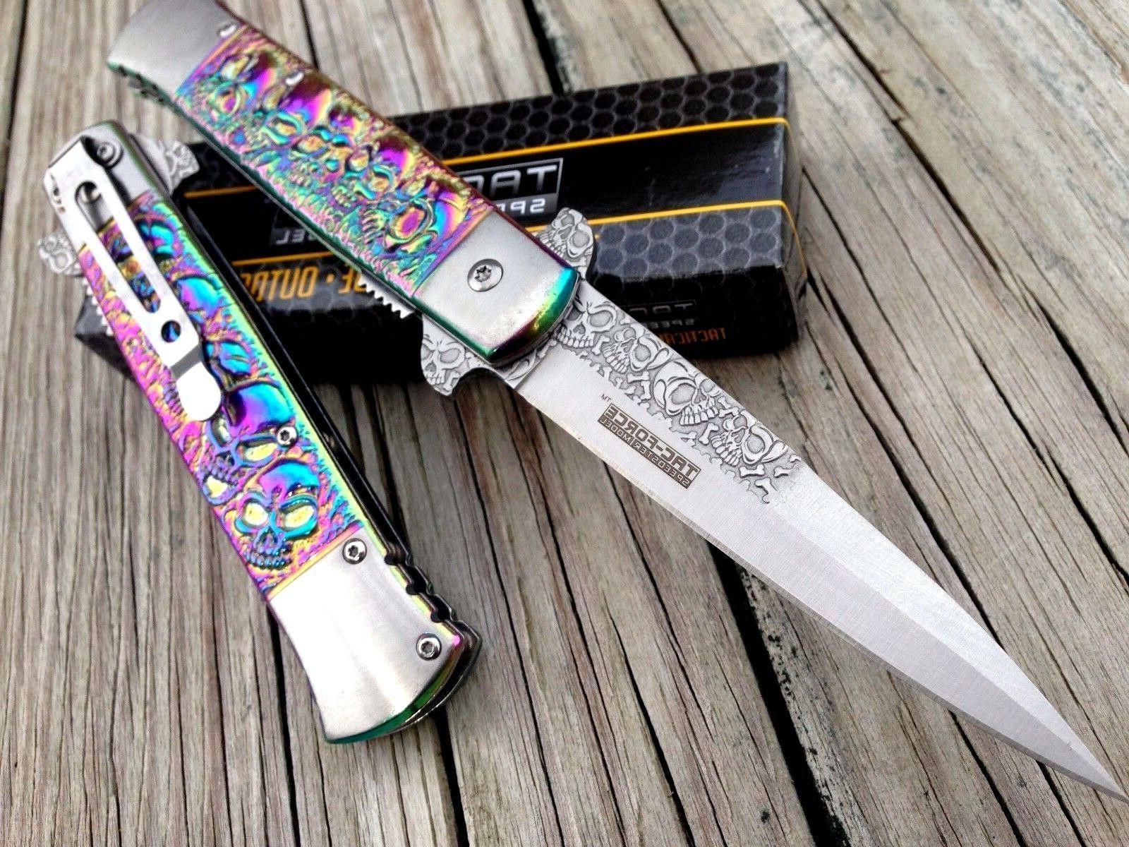 TAC FORCE ASSISTED OPEN TACTICAL RAINBOW MILANO SKULL FOLDIN