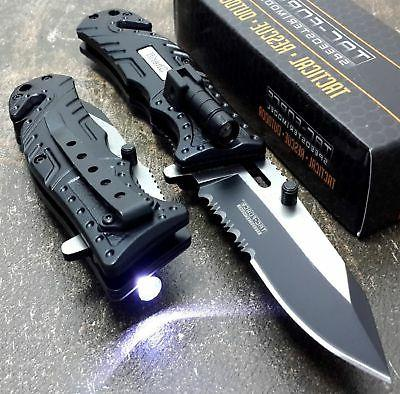 tac force black sheriff spring assisted open