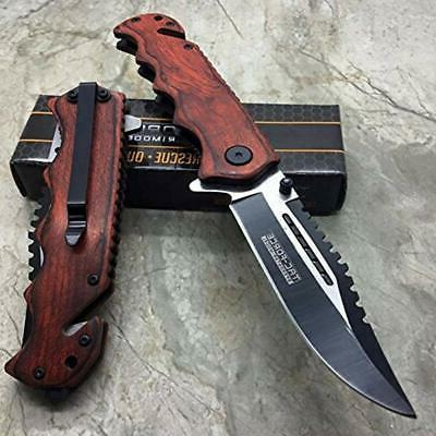 Tac Wooden Tactical Handy Knife ""
