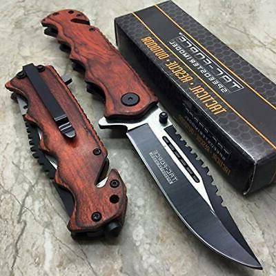 tac force g store vintage wooden handle