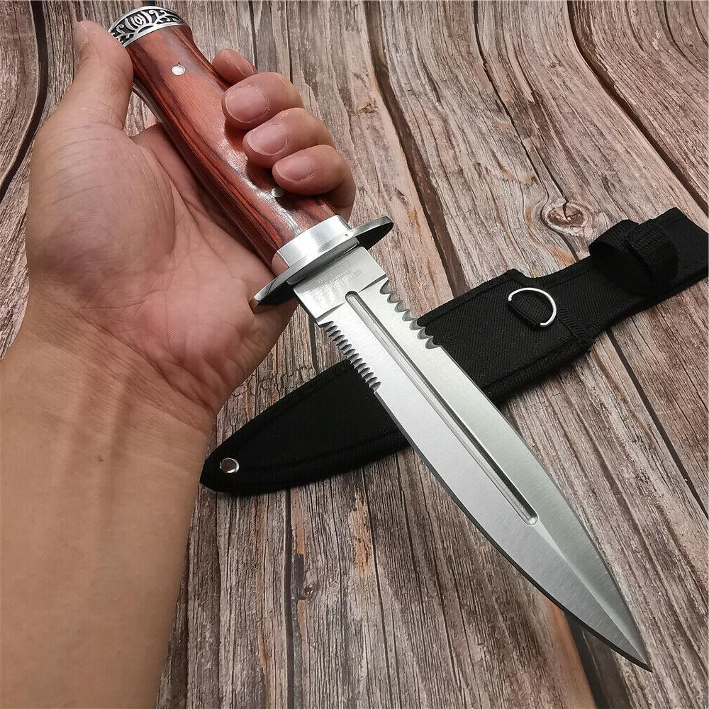 Tactical Dagger Knife Fixed Hunting OUTDOOR