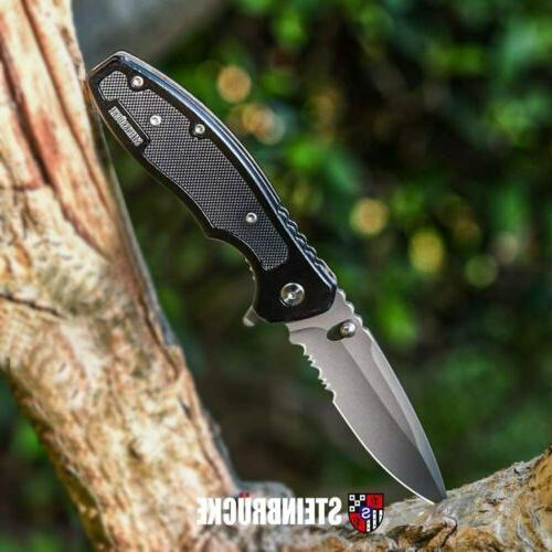 "8"" Tactical Spring Assisted Folding Knife Blade Pocket Assis"