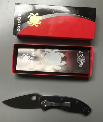 Spyderco Linerlock FRN 8Cr13MoV Pocket Knife 122PBK