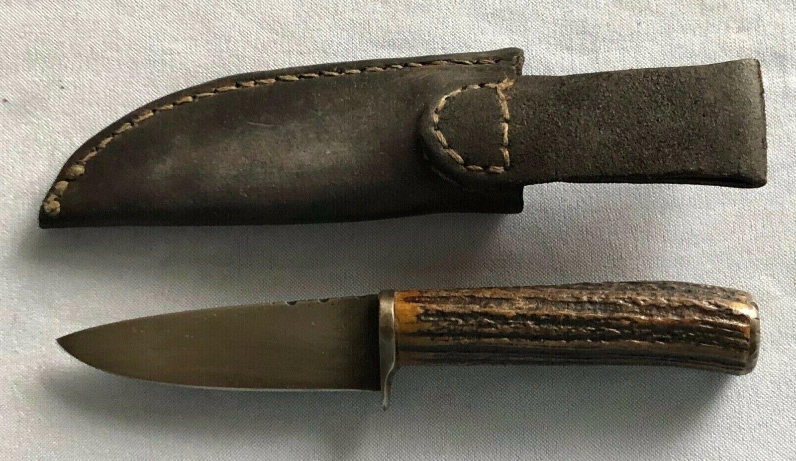 Tim Drop Stag-Hdled Belt Knife