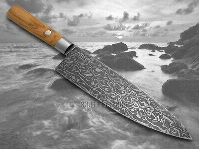 Boker Brand Damascus ###2 Wood Chef's Knives
