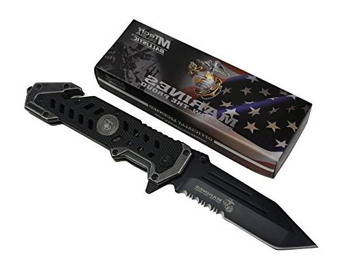 USMC Tactical Pocket Knife G10 Handle Sharp Tanto Blade Assisted Knives Elite Survival